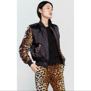 Love Moschino Cheetah Graphic Bomber Jacket 10
